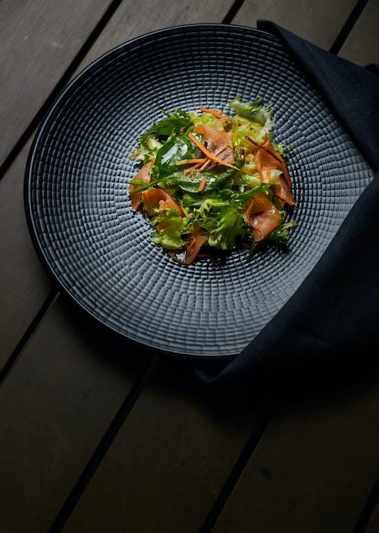 Veggies Dish on Gray and Black Plate
