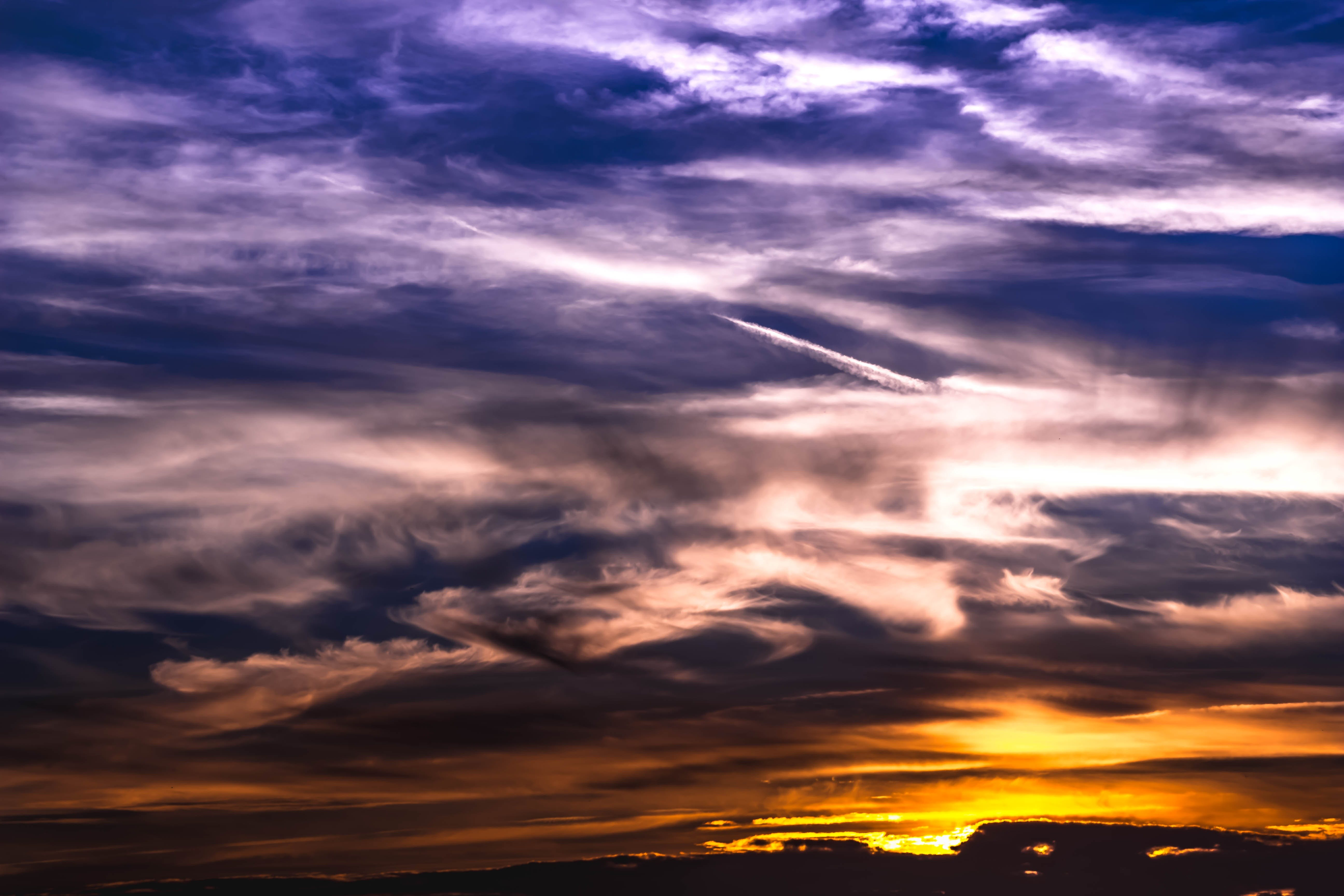 Free stock photo of sky, sunset, romantic, clouds