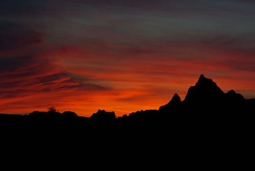 Бесплатное стоковое фото с вечер, геологический, геология, гора