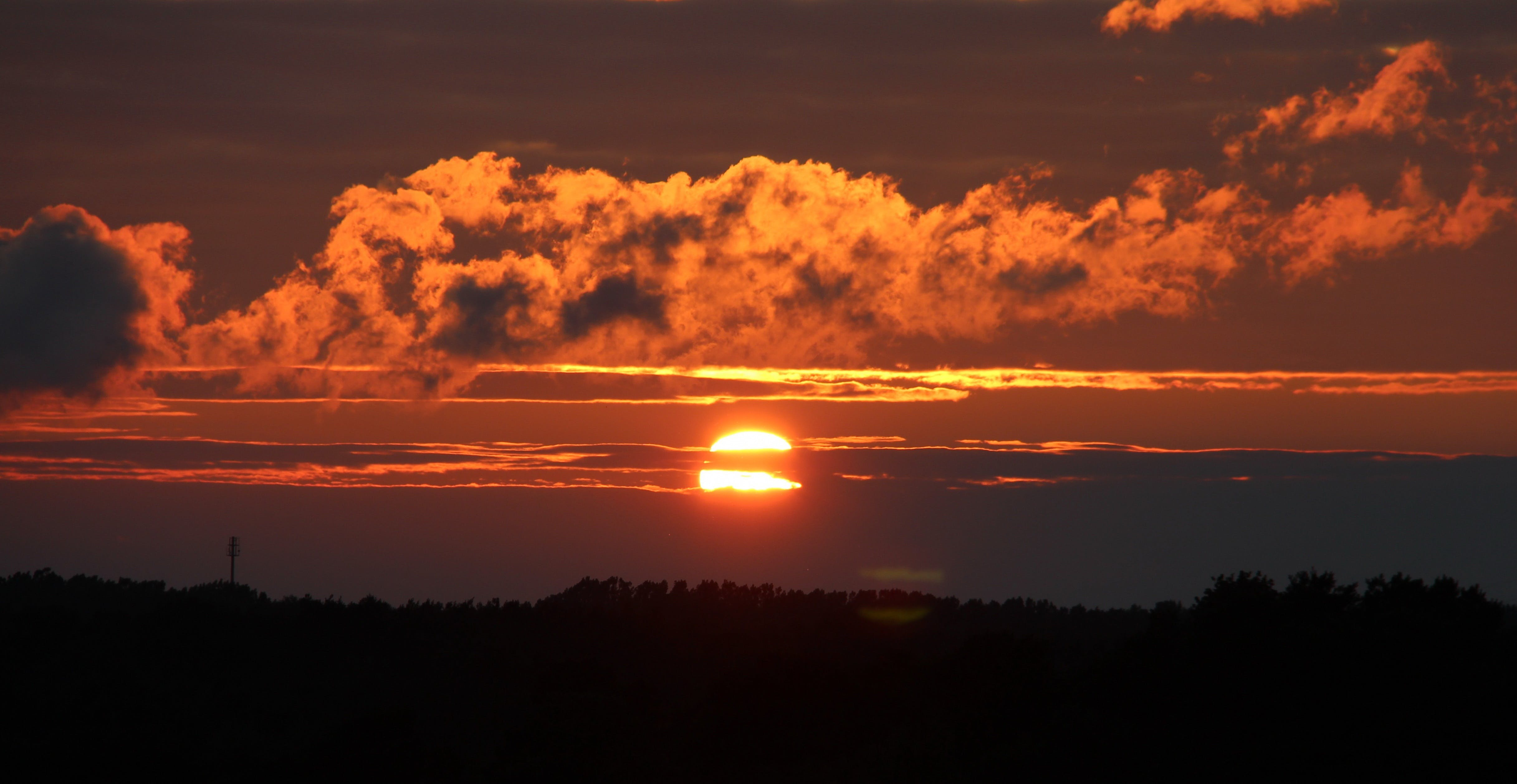 Free stock photo of sky, sunset, clouds, sun
