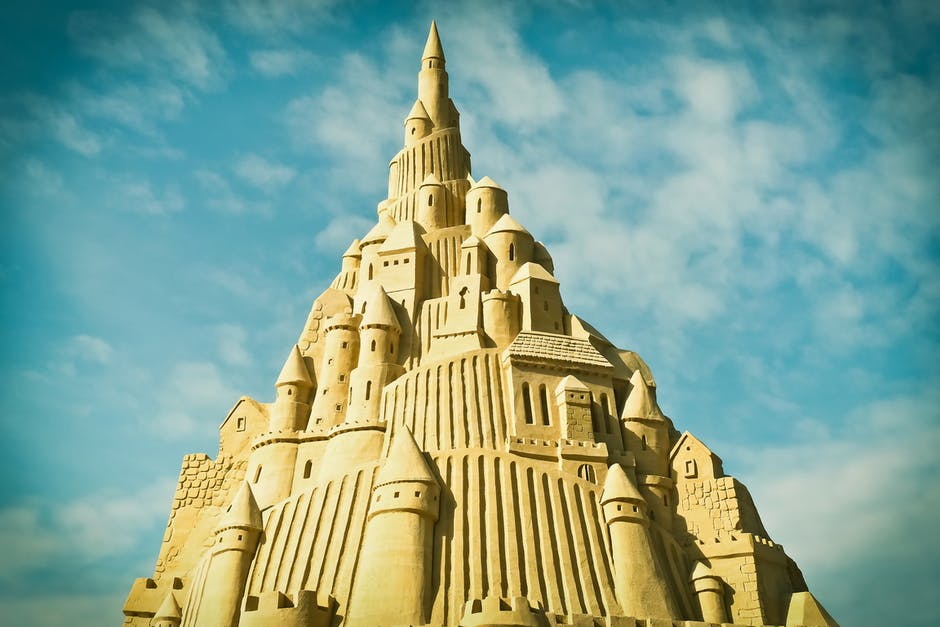 Low Angle of Sand Castle