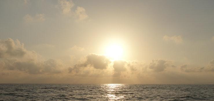 Free stock photo of sea, dawn, beach, clouds