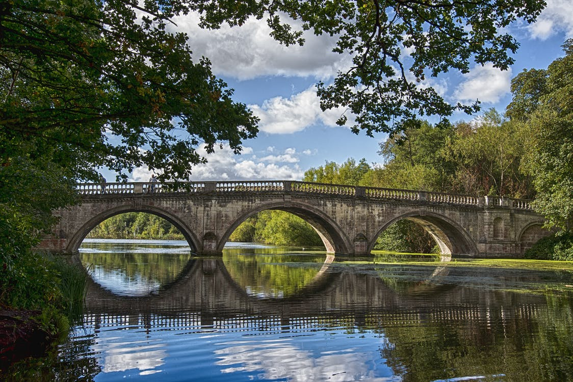 Bridge over a Lake during Day Time