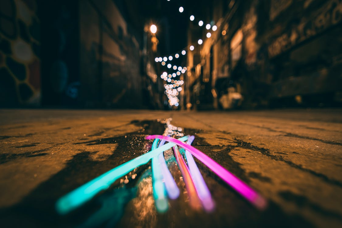 Long Exposure Photography of Light Sticks