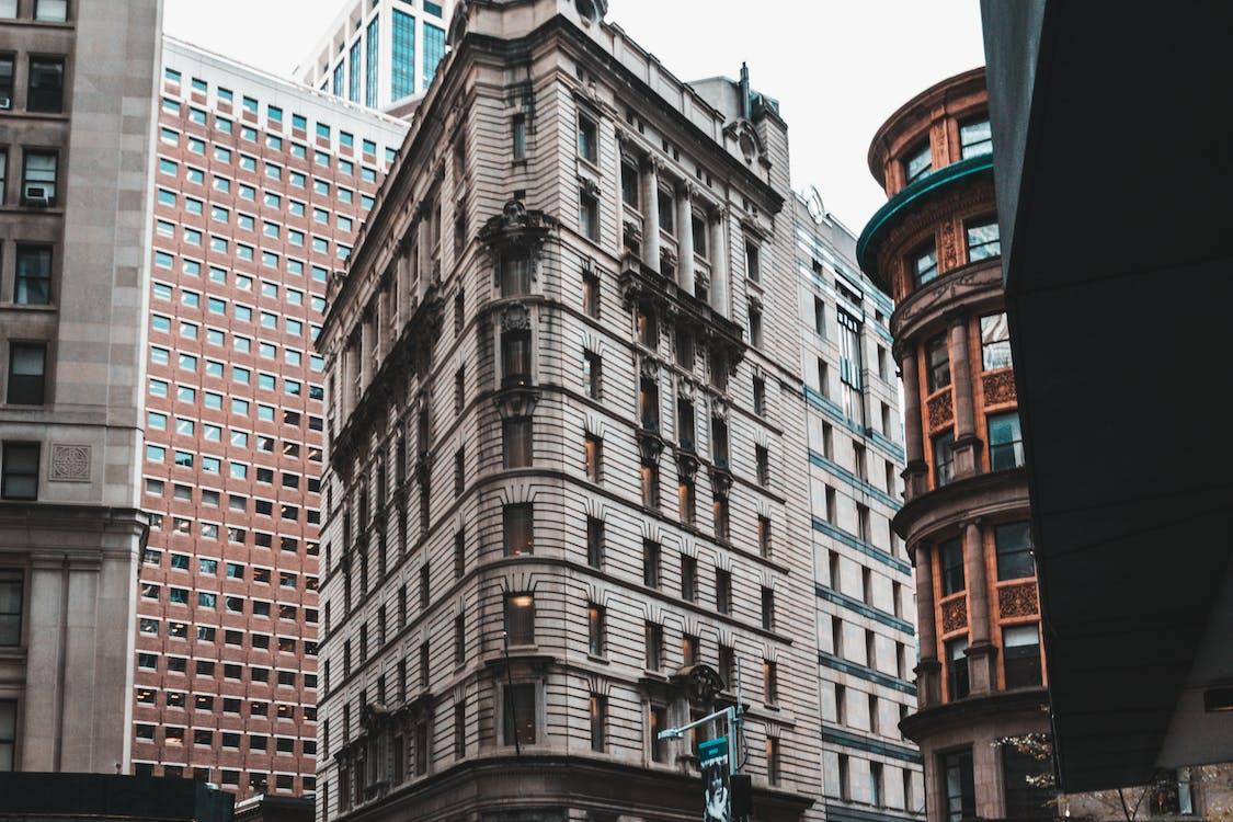 architettura, business, centro città