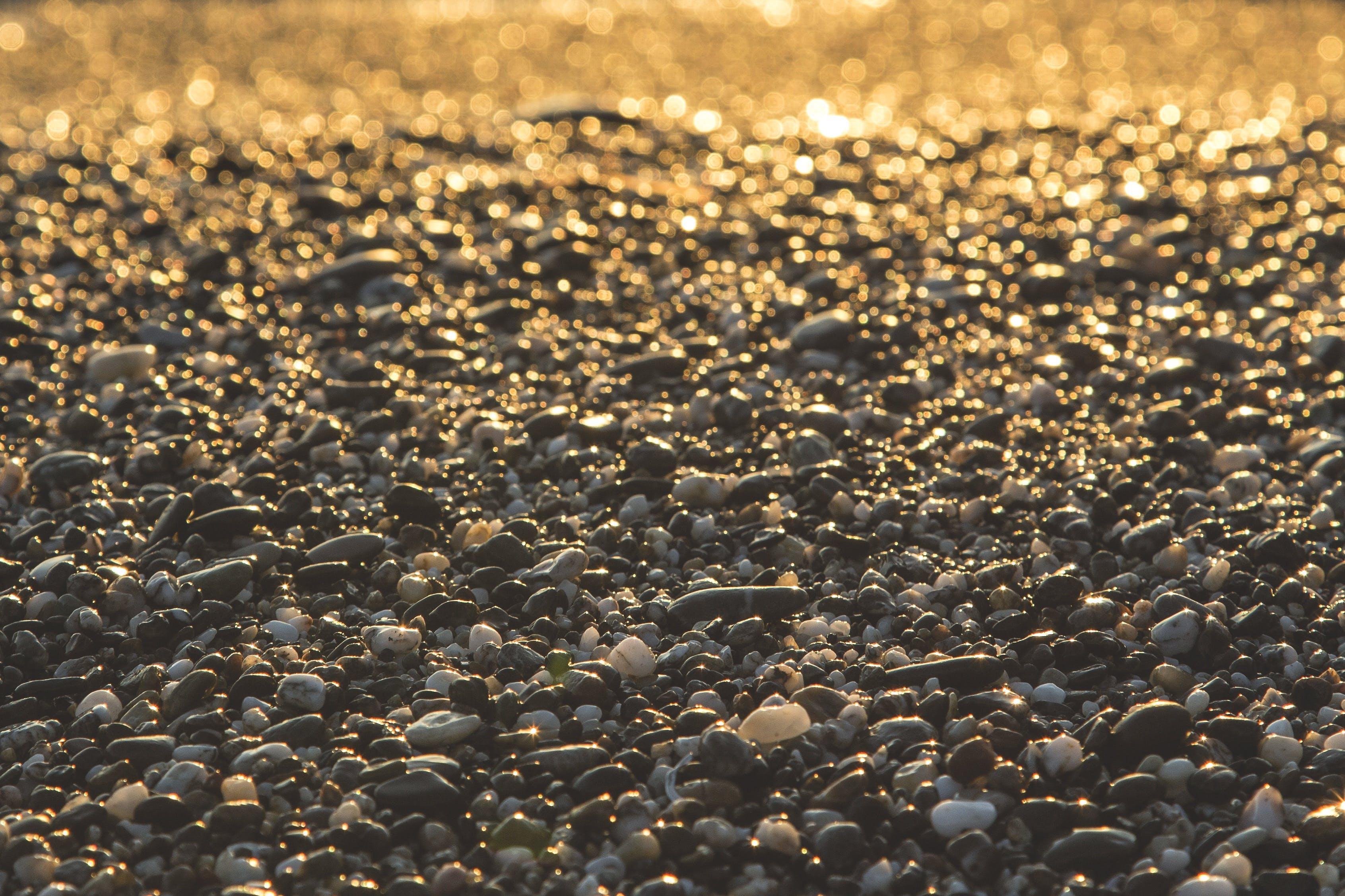 Pebble Stone on Ground