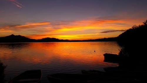 傍晚的天空, 光, 反射, 天性 的 免费素材照片