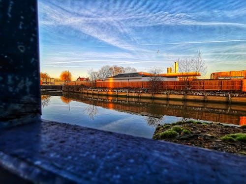 外框, 池塘, 湖, 藍天 的 免費圖庫相片