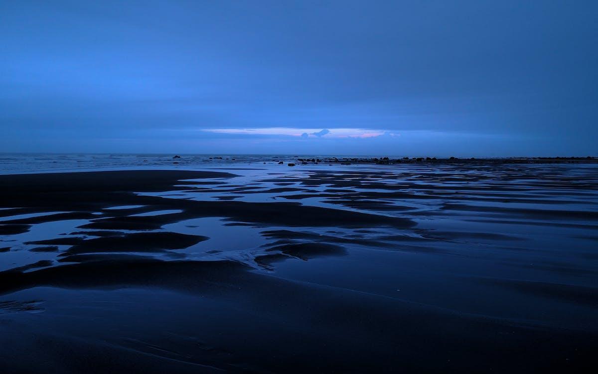 baggrund, blå, blå time