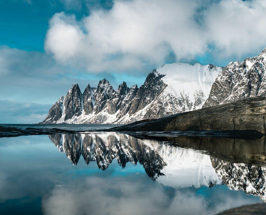 chladný, hora, horský vrchol