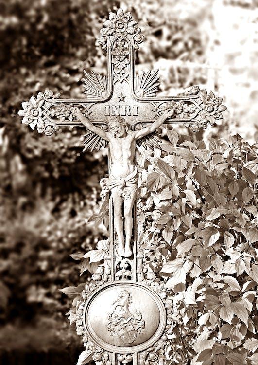 Crucifix Decor Sepia Photo