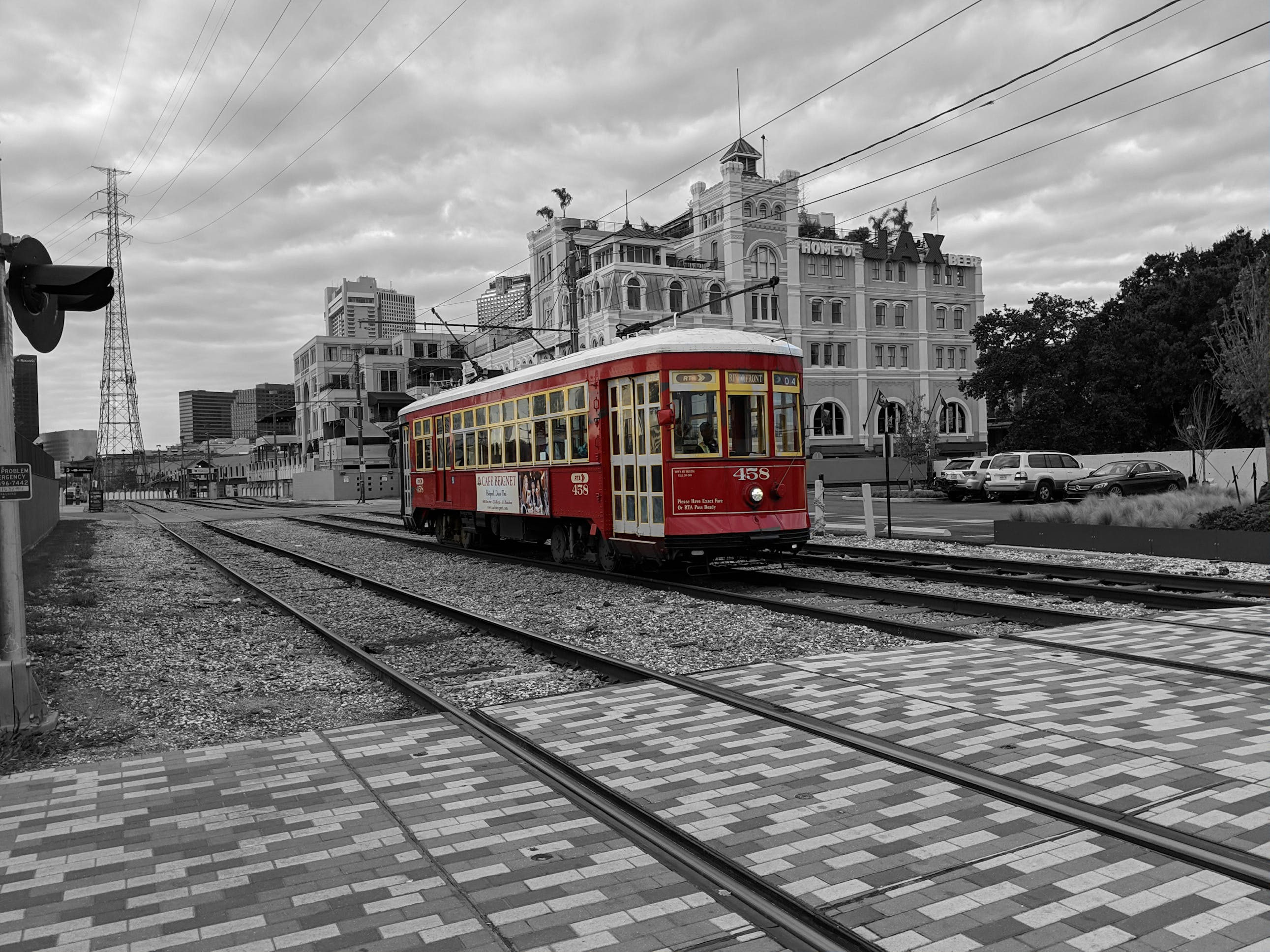 Free stock photo of New Orleans trolley