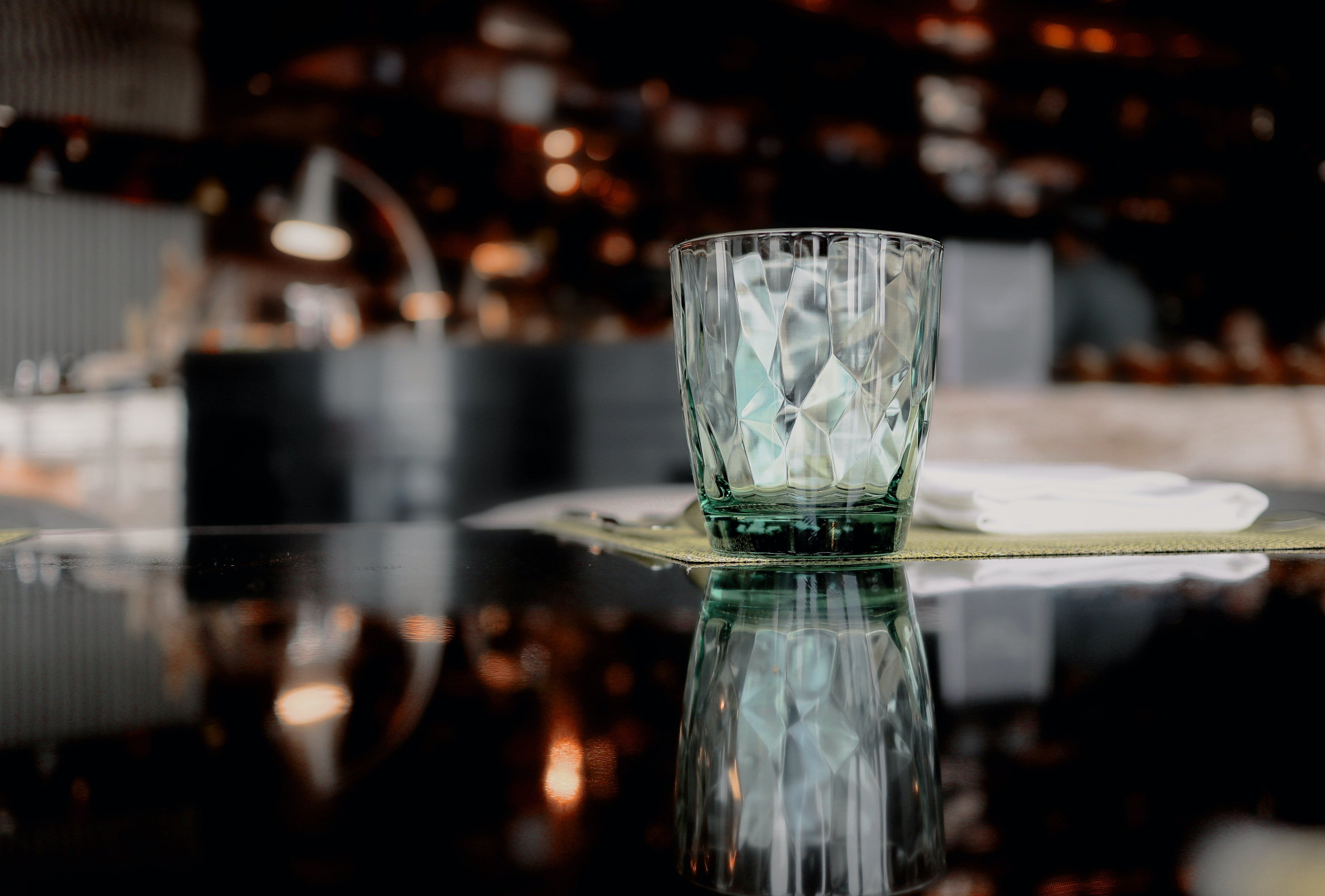 Close-Up Photo of Drinking Glass