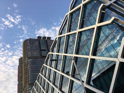 Ingyenes stockfotó ablakok, acél, ég, építés témában