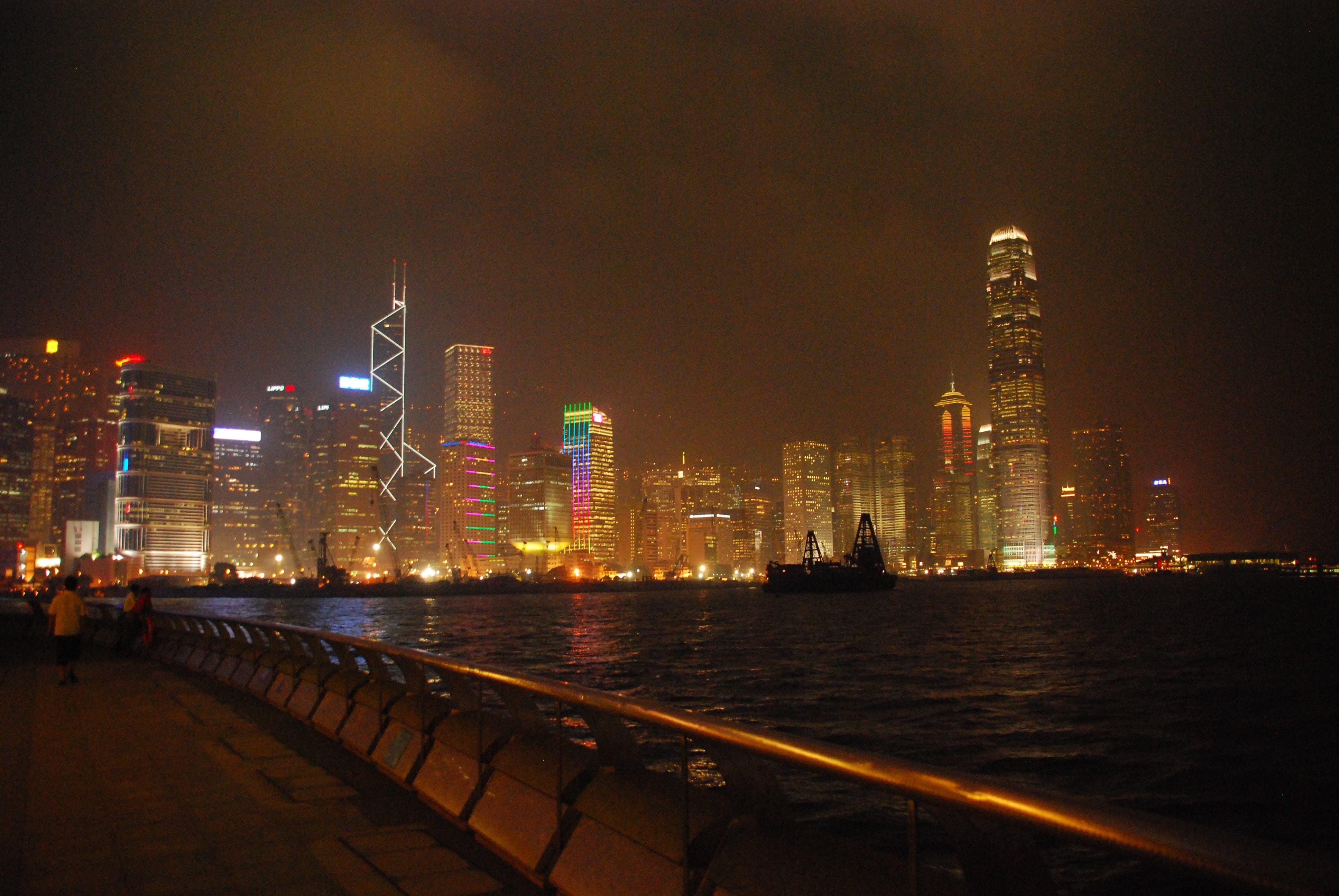 Free stock photo of city, night, buildings, building