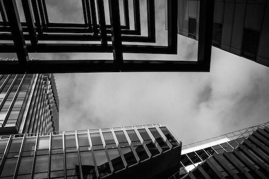 Free stock photo of black-and-white, city, landscape, dark