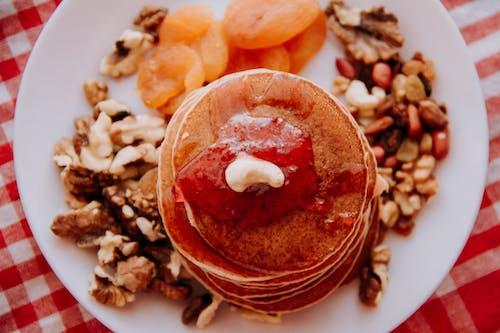 Pancakes On White Platter
