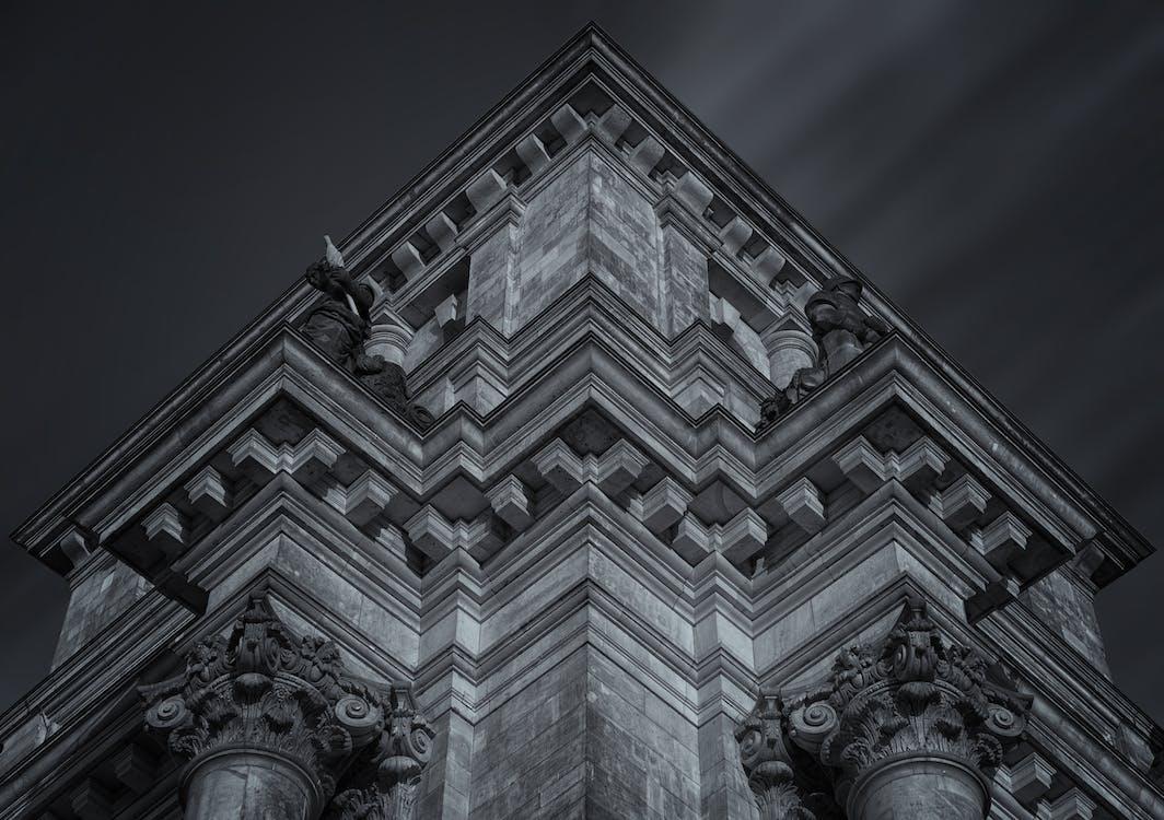 alb-negru, antic, arhitectură