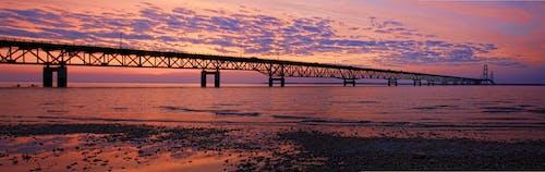 Gratis lagerfoto af arkitektur, bro, hav, morgengry
