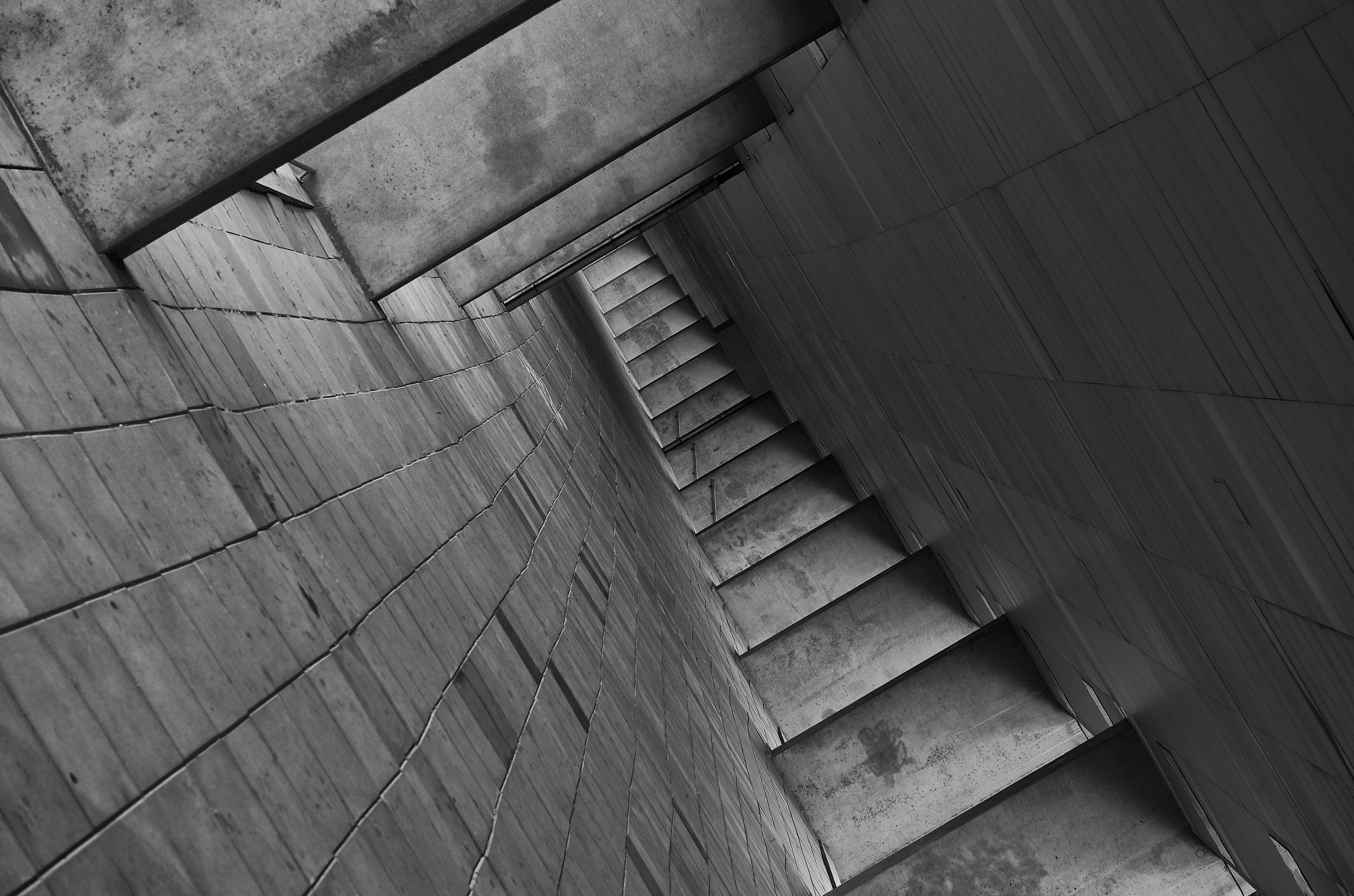 Empty Walkway Black and White Photo