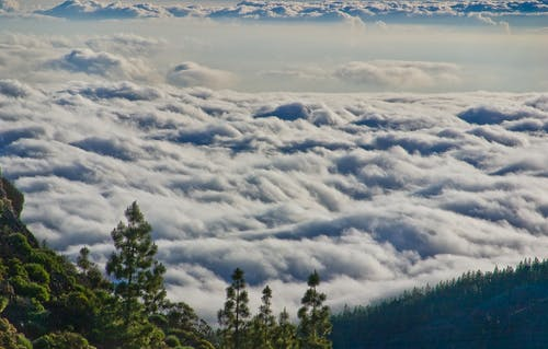View of Clouds at a Mountain Top