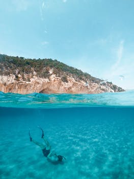 Dive in the pristine waters of Sardinia, Italy