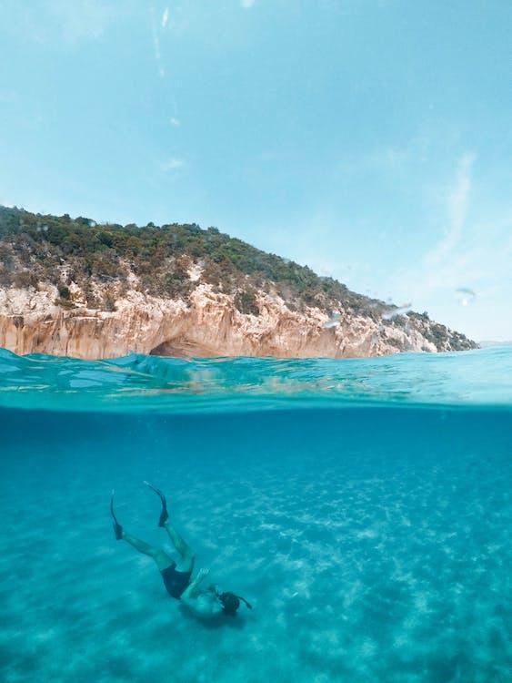 água, azul, beira-mar