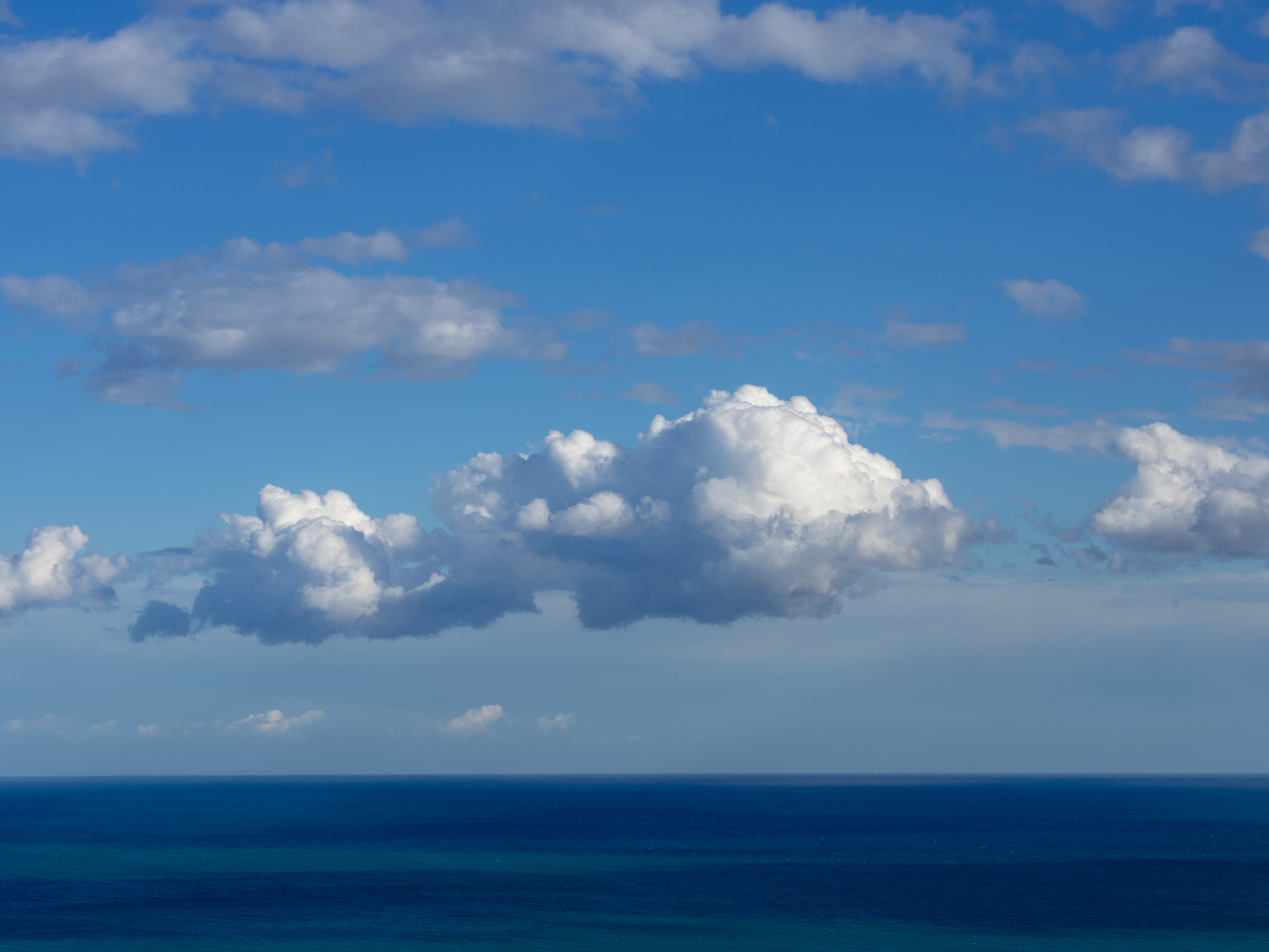 Free stock photo of blue sky, mediterranean sea, sea, white clouds