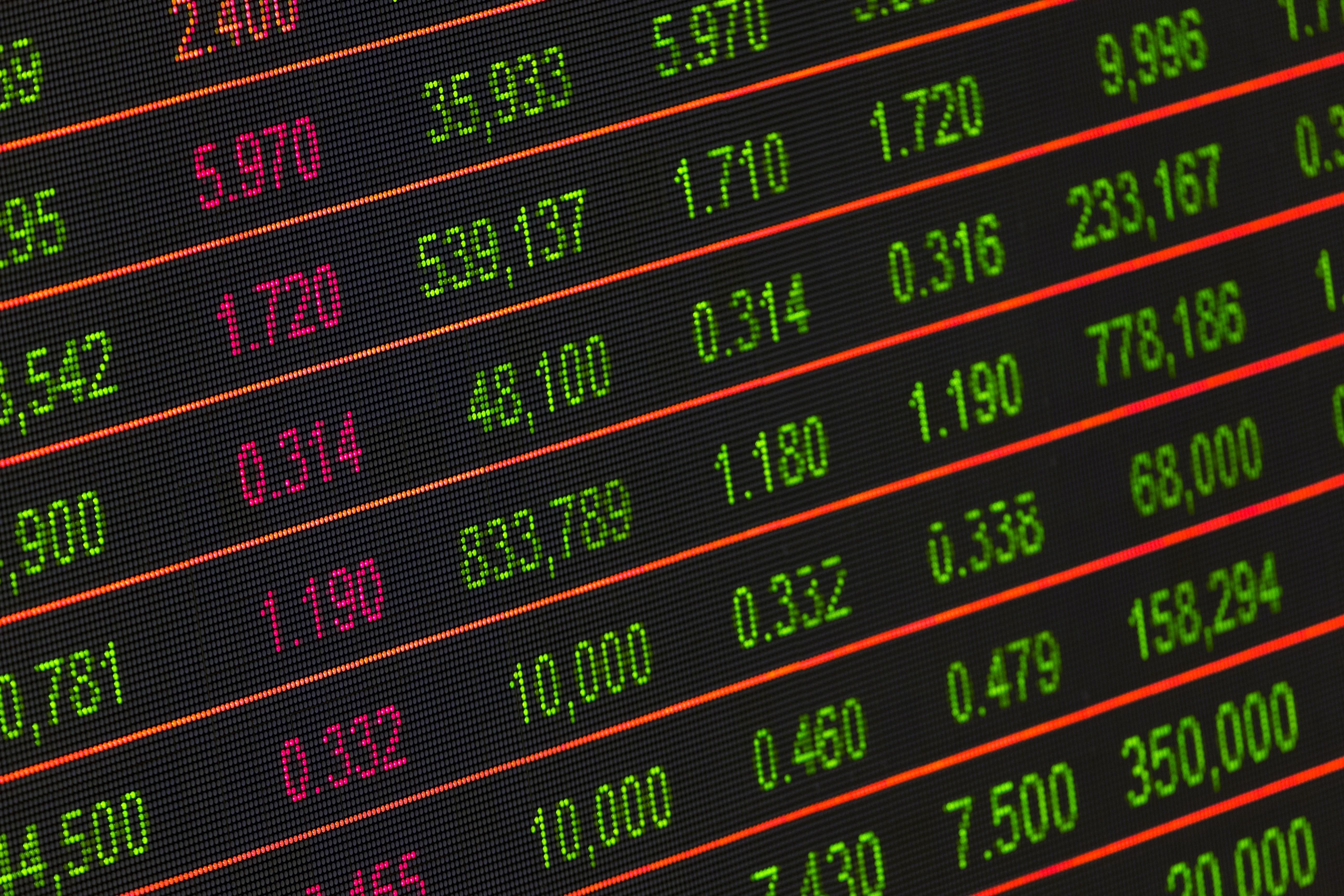 stock exchange board  u00b7 free stock photo