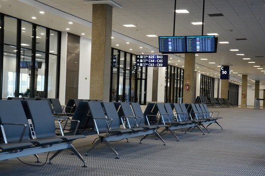 Free stock photo of holidays, airport, travel, waiting room