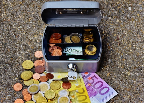 Free stock photo of money, box, cash, currency