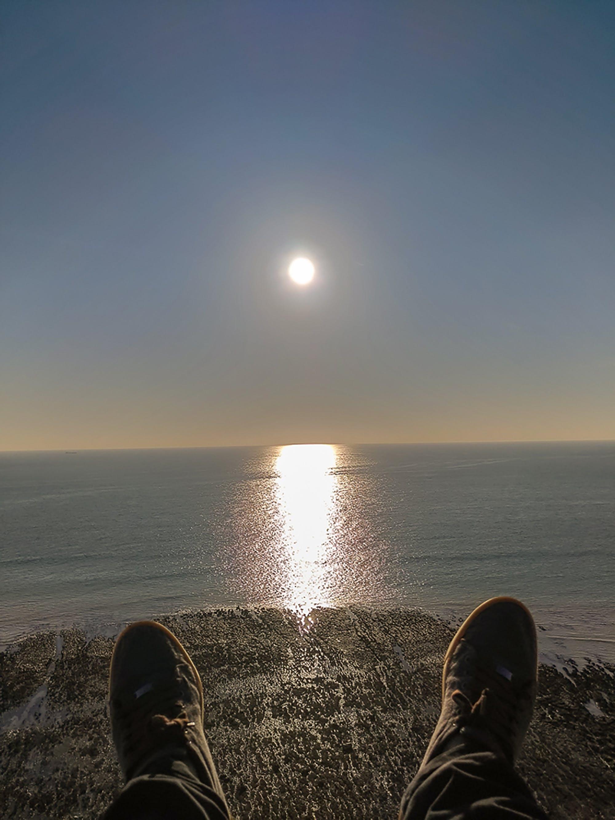 Gratis lagerfoto af solnedgang, solnedgang strand