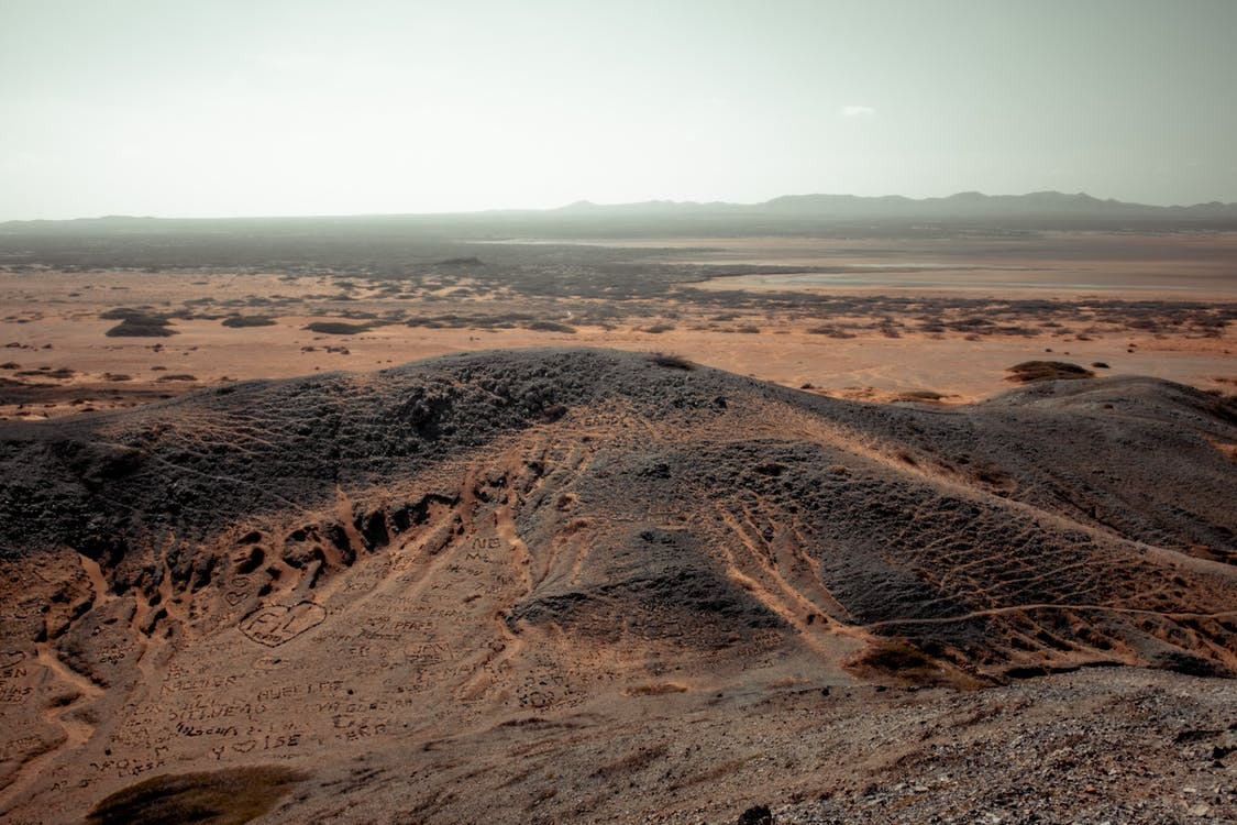 Aerial View of a Desert