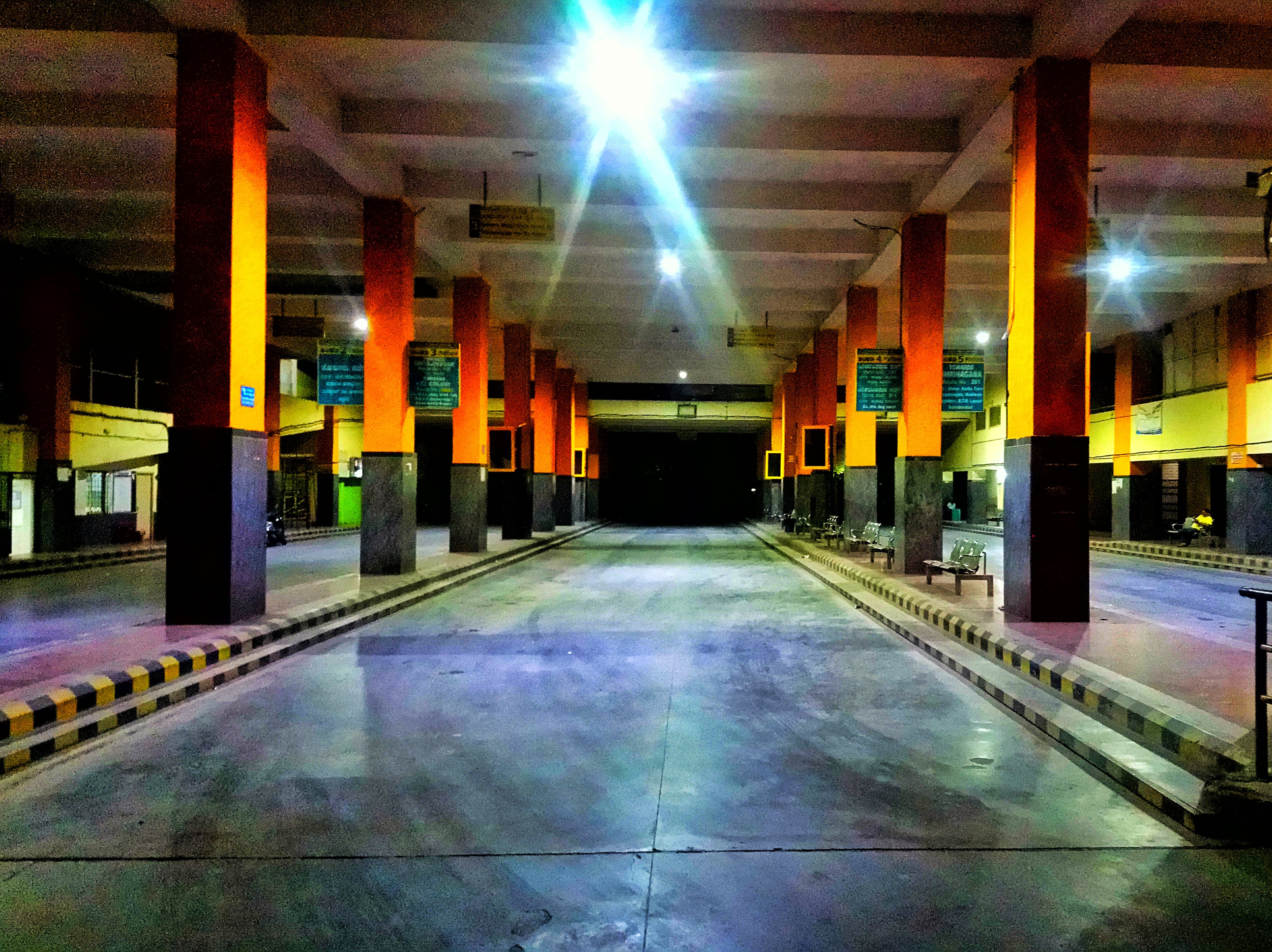Free stock photo of bus station bus hall god road, road