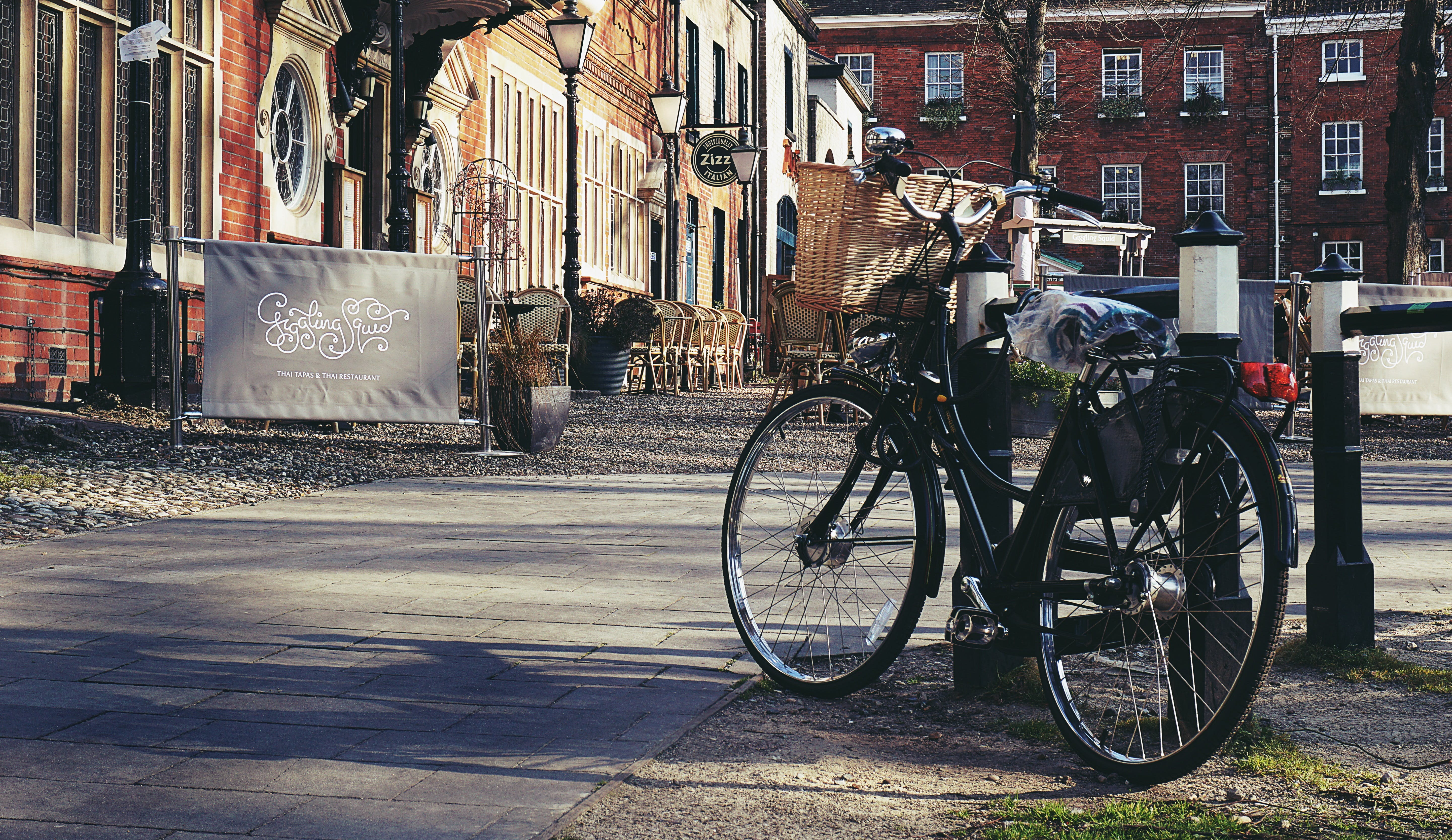 Free stock photo of bicycle, bike, city, restaurants