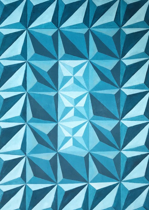 Free stock photo of abstract painting, blue, geometric pattern
