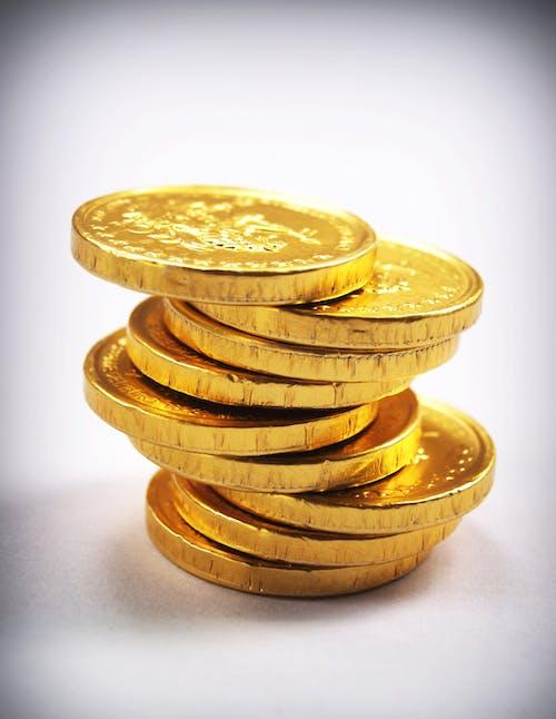 altın, altın rengi, altından, bozuk para şeker içeren Ücretsiz stok fotoğraf