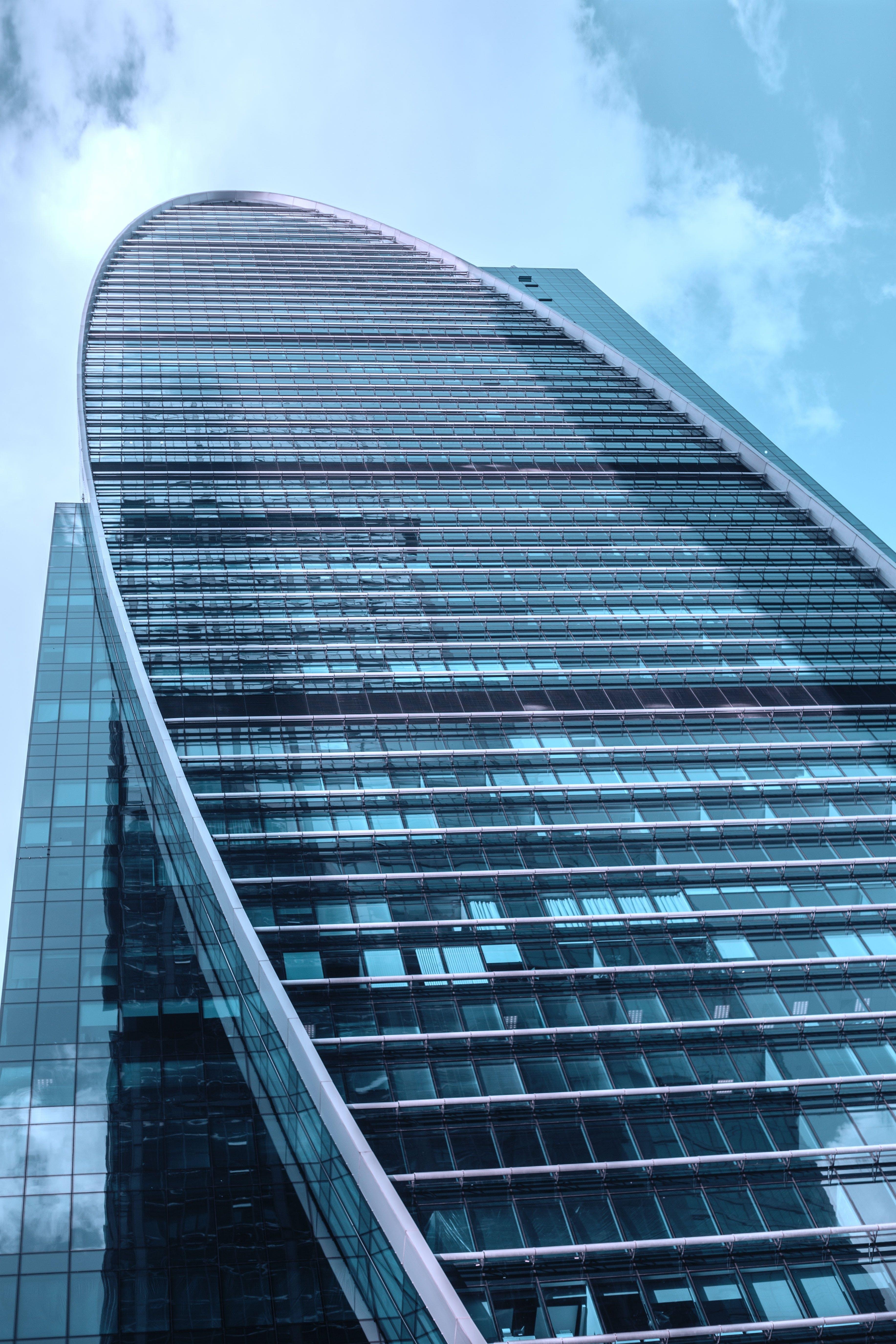 Ảnh lưu trữ miễn phí về cao tầng, chén, góc chụp thấp, kiến trúc