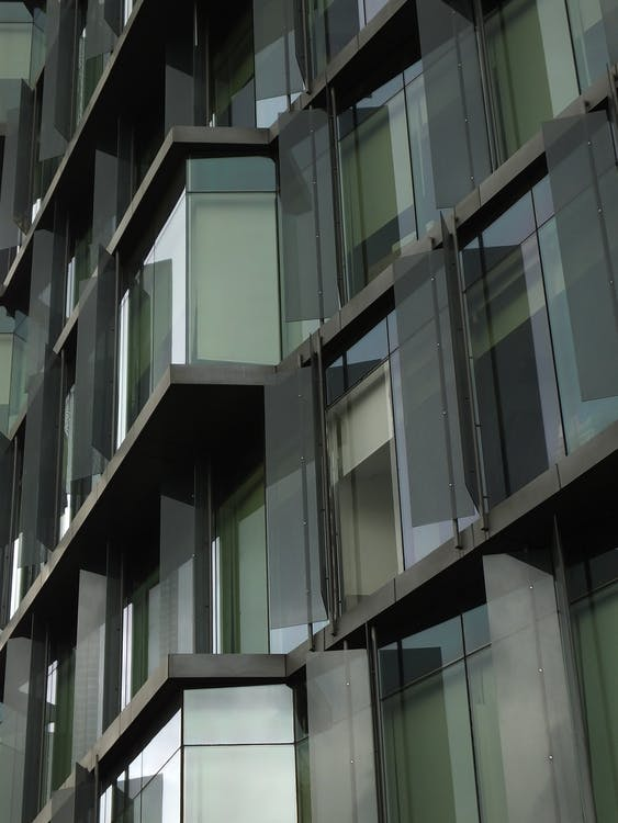 acier, appartement, architecture