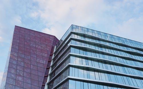 Immagine gratuita di architettura, aziendale, azzurro, bicchiere