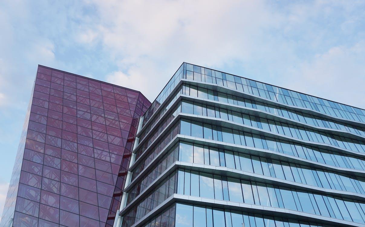 arkkitehtuuri, heijastus, ikkunat
