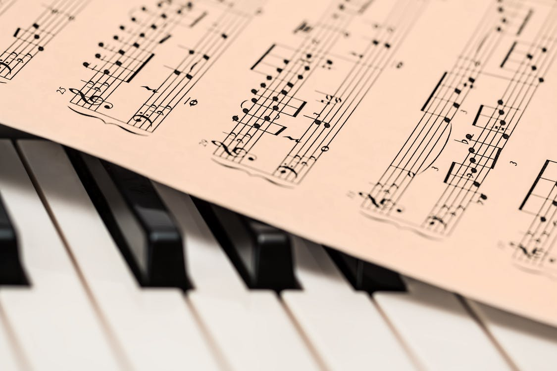 Music Sheet on Organ