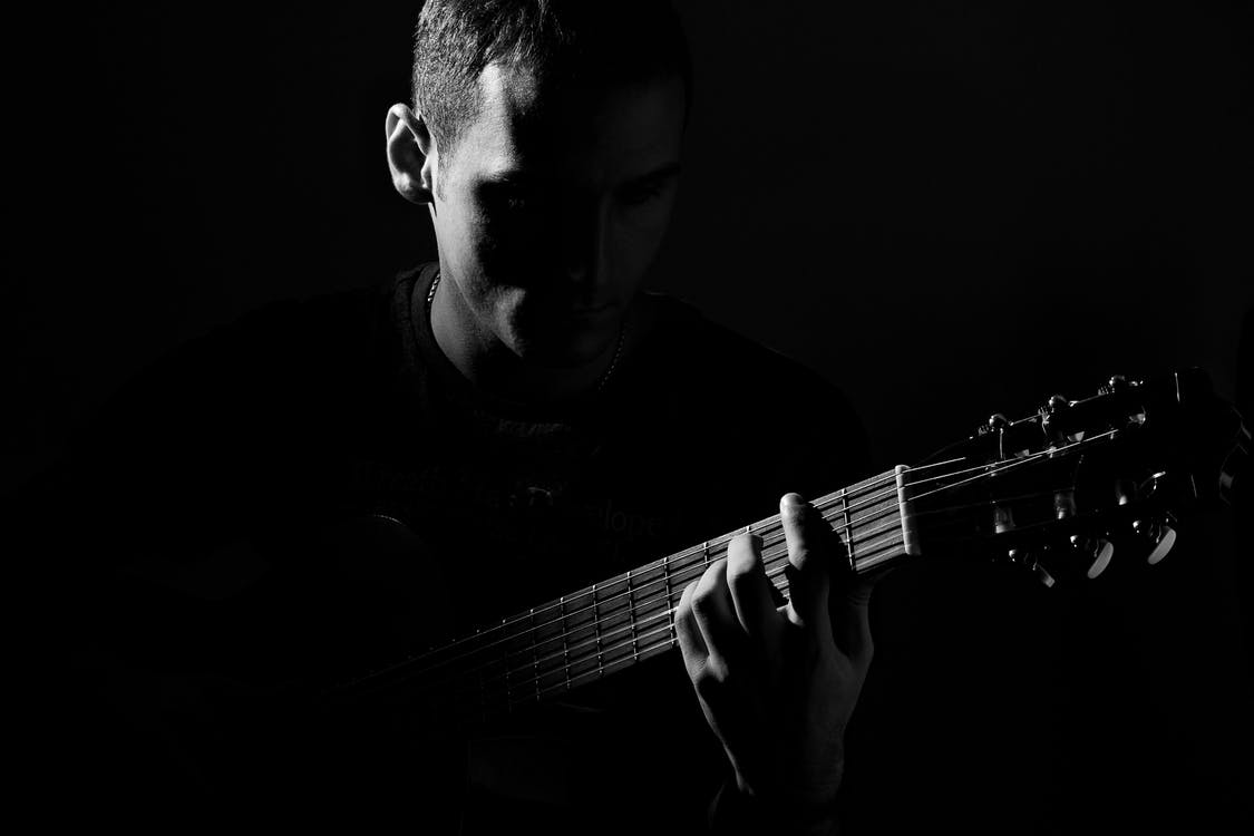 adam, caz, gitar