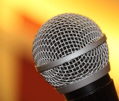 Macro Shot of Microphone
