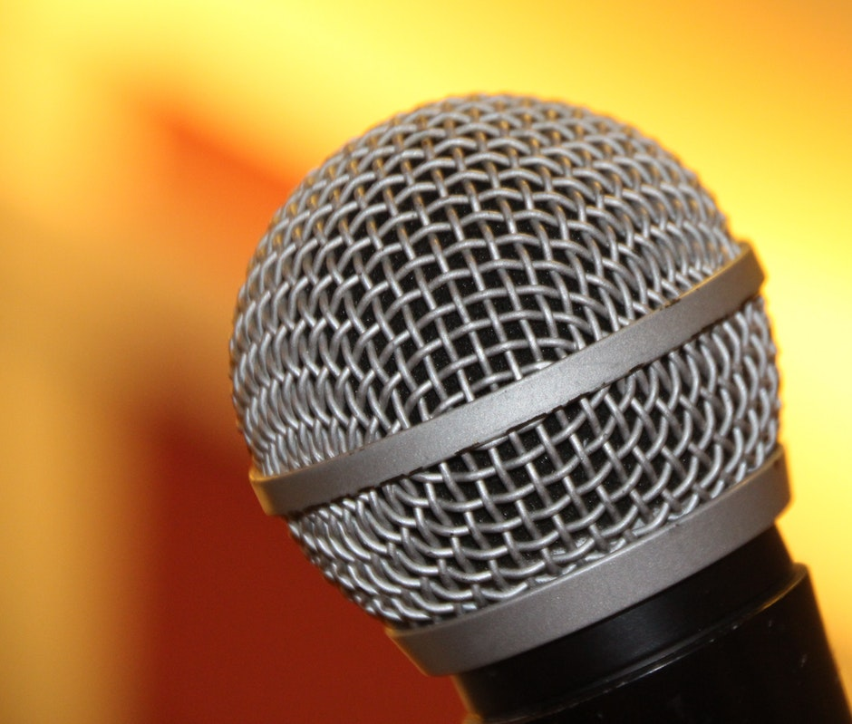 Macro Shot of Microphone