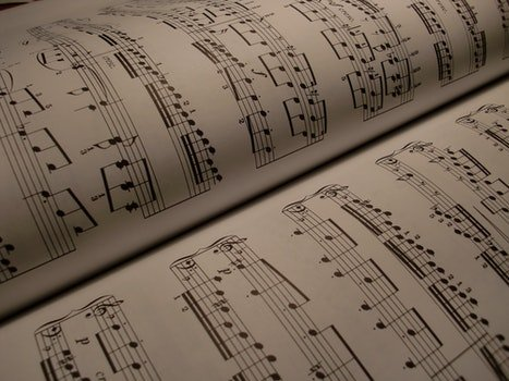 Free stock photo of black-and-white, writing, music, book