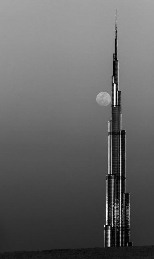 bnw, UAE, 가벼운, 건축의 무료 스톡 사진