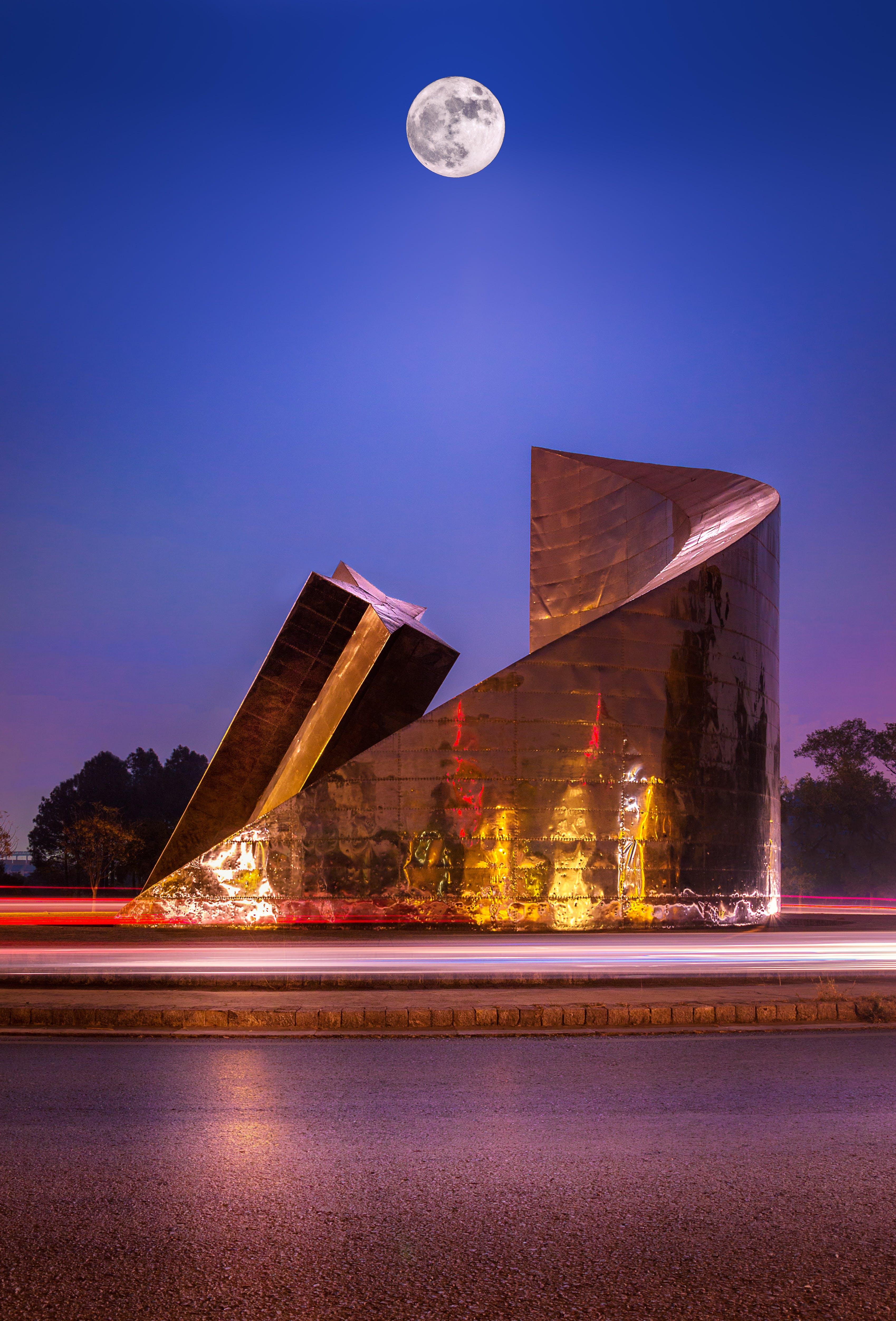 abend, architektur, aussicht
