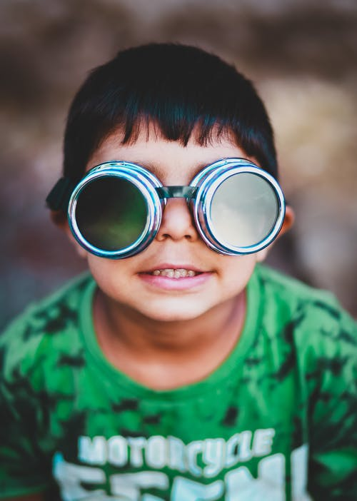 Boy Wearing Goggles