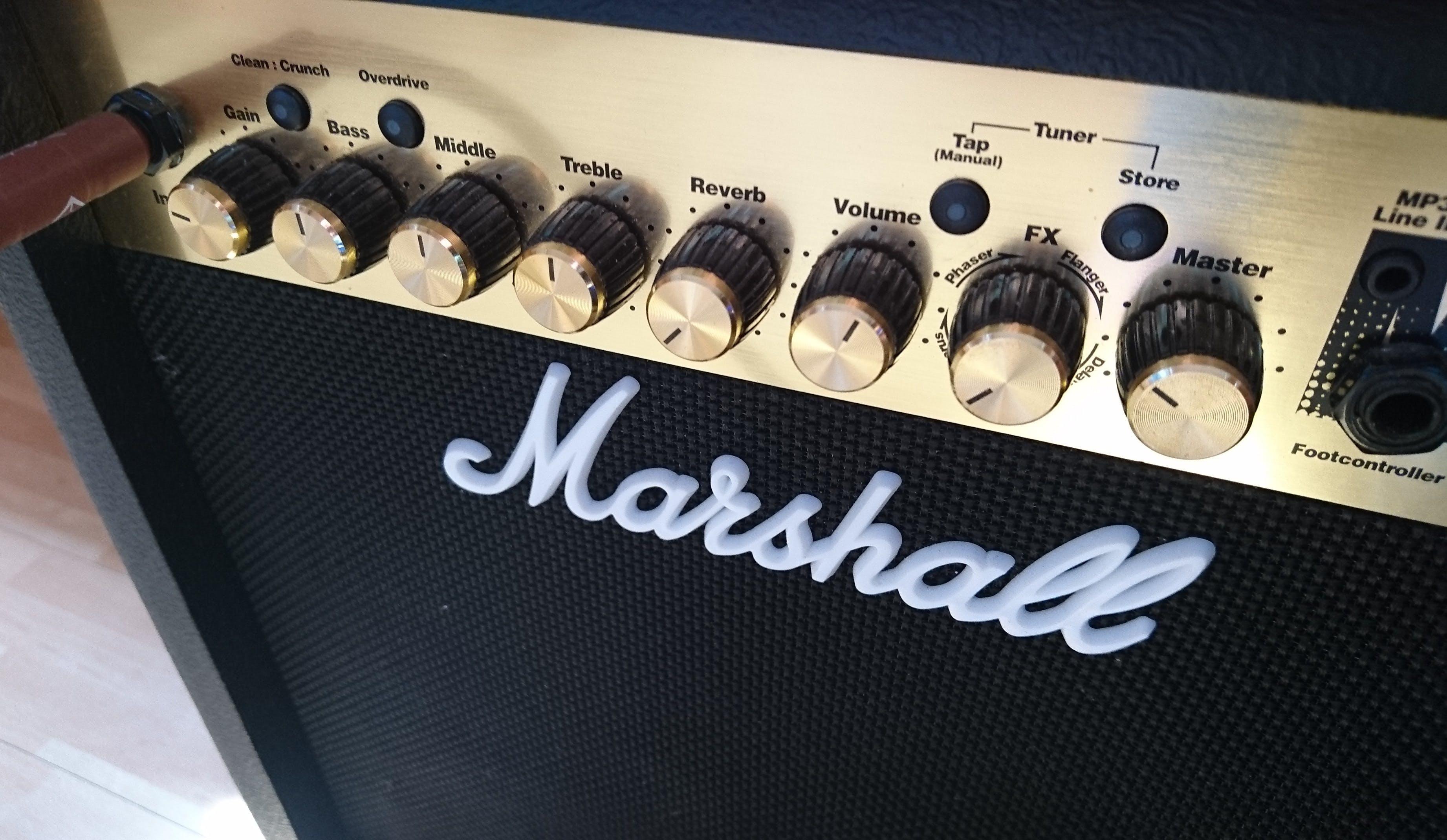 Kostenloses Stock Foto zu marshall, musik, nahansicht, verstärker